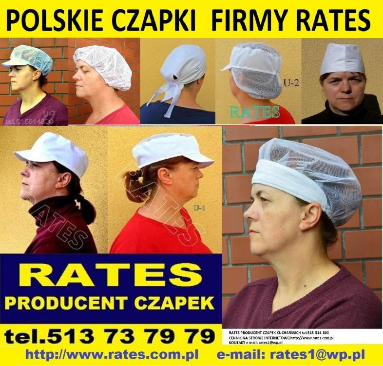 Polskie czapki kucharskie producent RATES